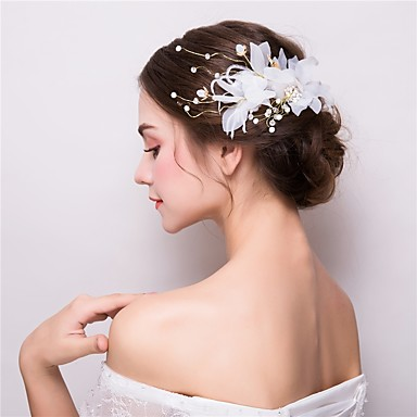 Tulle / Alloy Flowers / Hair Clip with 1 Wedding / Party / Evening Headpiece