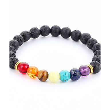 Men's Women's Chain Bracelet Strand Bracelet - Turquoise Vintage, Bohemian, Natural Bracelet Rainbow For Christmas Wedding Party