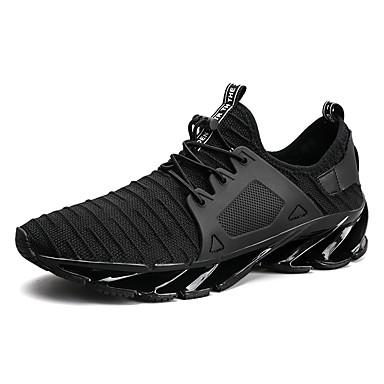 Férfi cipő Tüll Ősz / Tél Kényelmes Sportcipők Futócipő Fekete / Szürke