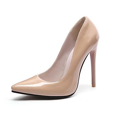 Women's Shoes PU(Polyurethane) Spring / Fall Comfort / Novelty Heels Stiletto Heel Pointed Toe Red / Wine / Almond / Wedding
