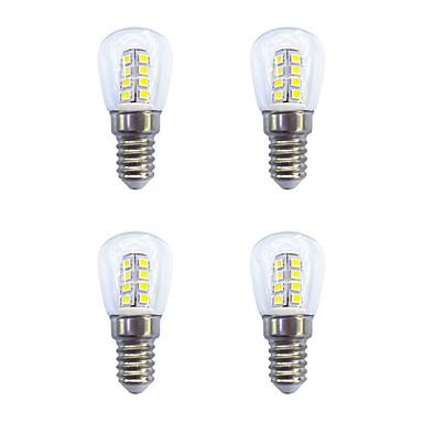 4db 2W 160lm E14 LED gömbbúrás izzók 26 LED gyöngyök SMD 2835 Meleg fehér / Fehér 220-240V