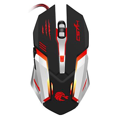 S100 Vezetékes Gaming Mouse DPI állítható Backlit 1200 / 1600 / 2400 / 3200/5500