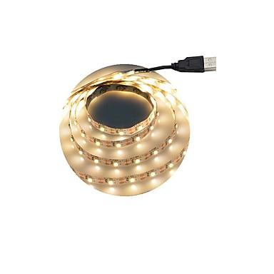 abordables Bandes Lumineuses LED-1m Bandes Lumineuses LED Flexibles 60 LED 2835 SMD Blanc Chaud / Blanc Découpable / Auto-Adhésives 5 V 1pc