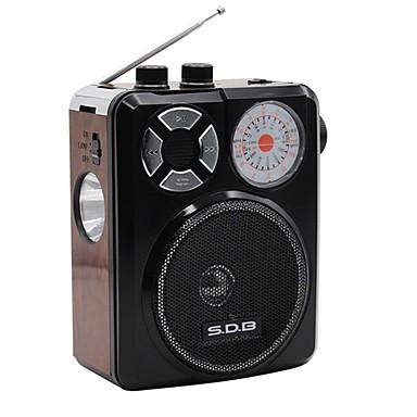 336UR FM AM Hordozható rádió MP3 lejátszó Zseblámpa Bluetooth SD-kártyaWorld ReceiverBarna Piros