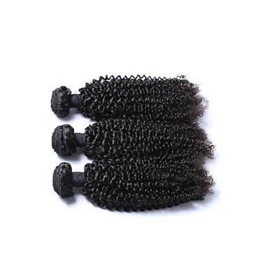 Brazil haj Kinky Curly Emberi haj sző 3 darab Az emberi haj sző
