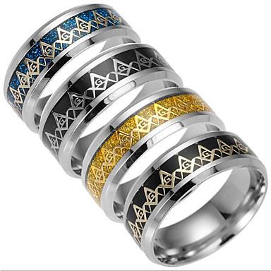 Men's Band Ring - Titanium Steel Fashion 6 / 7 / 8 Black / Silver / Dark Blue For Daily