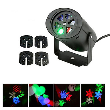 ywxlight® mozgó karácsonyi lézer fények hó projektor lámpa hópehely led party fény többszínű karácsonyi ünnep diszkó színpad lámpa