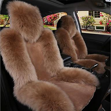 voordelige Auto-interieur accessoires-autostoelhoezen stoelhoezen zwart / kameel / wijnwol gebruikelijk voor universeel gemaakt van Australische wol en is warm en ademend