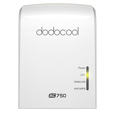 dodocool AC750 Dual Band Wireless Wi-Fi AP / Repeater / Router Simultaneous 2.4GHz 300Mbps and 5GHz 433Mbps EU Plug
