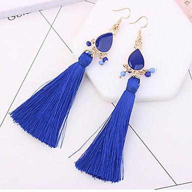 Women's Tassel / Long Drop Earrings - Drop Tassel, Fashion Red / Blue / Rainbow For Daily
