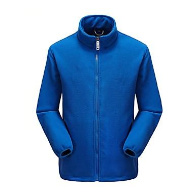 Férfi Planinarska jakna od flisa Külső Tél Csúszásgátló Anatómiai tervezés UV-álló Lélegzési képesség Tél Polár zsekik Teljes hosszában