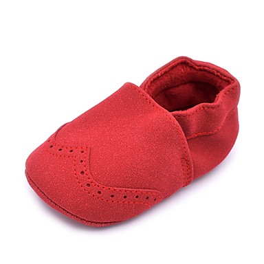 Girls' Shoes Suede Spring & Summer Comfort / First Walkers / Crib Shoes Flats Gore for Red / Pink / Light Blue