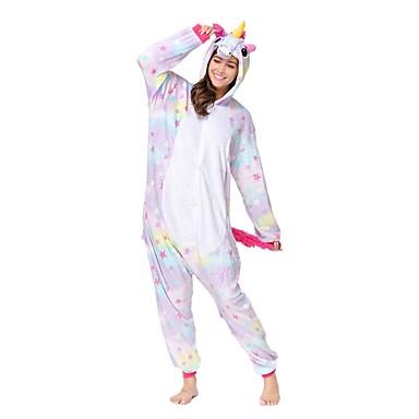 Felnőttek Kigurumi pizsama Unicorn Onesie pizsama Flanel Báránybunda Bíbor Cosplay mert Allati Hálóruházat Rajzfilm Halloween Fesztivál / ünnepek / Karácsony
