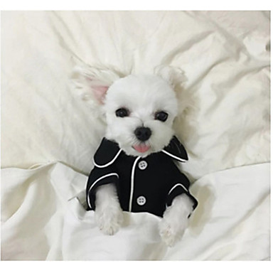 Dog Pajamas Dog Clothes British White Black Pink Light Blue Silk Costume For Pets Men's Women's Casual/Daily