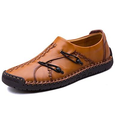 Férfi cipő Bőr Bőrutánzat Tavasz Ősz Kényelmes Tornacipők Kombinált mert Hétköznapi Fekete Világosbarna Sötétbarna