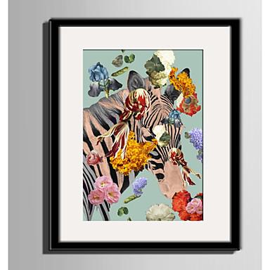 Bekeretezett vászon Bekeretezett szett Állatok Virágos / Botanikus Fantasy Wall Art, PVC Anyag a Frame lakberendezési frame Art Nappali
