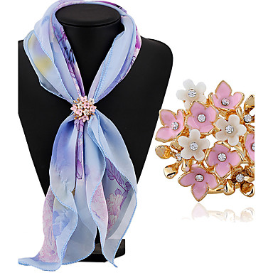 Women's Brooches - Rhinestone Classic, Fashion Brooch White / White / Pink For Daily / Casual