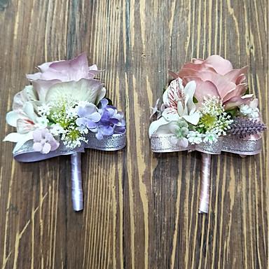 Esküvői virágok Virágkitűzők Esküvő Poliészter 3.94 hüvelyk