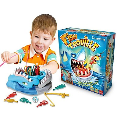 Fish Trouille Board Game / Fishing Toy / Tricky Toy Shark / Family / Paternity Interactive Plastics Kid's Gift 1 pcs