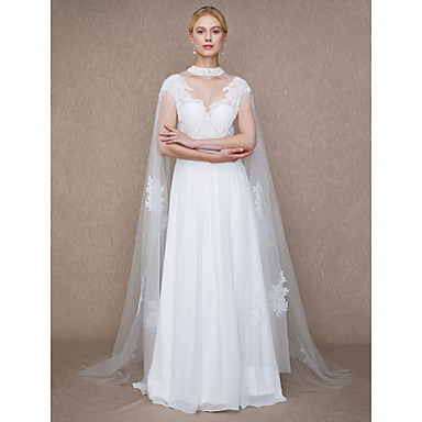Tulle Wedding / Party / Evening Women's Wrap With Beading / Appliques Capes