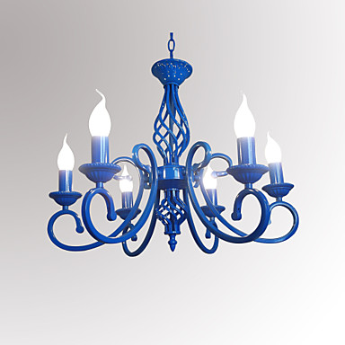 6-Light Candle-style Chandelier Ambient Light - Candle Style, 110-120V / 220-240V Bulb Not Included / 10-15㎡ / E12 / E14