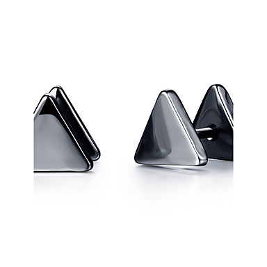 Men's Stud Earrings - Titanium Steel Rock, Fashion Black / Silver For Daily Casual