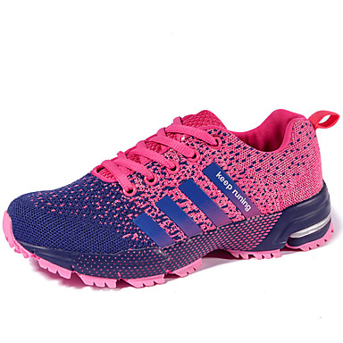 Women's Shoes Tulle Summer / Fall Comfort Athletic Shoes Running Shoes Creepers Red / Green / Light Pink