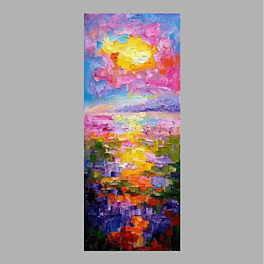 Oil Painting Hand Painted - Landscape Abstract Canvas / Rolled Canvas