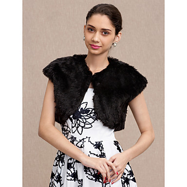 Faux Fur Wedding / Party / Evening Women's Wrap With Vests
