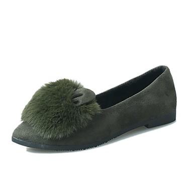 Women's Shoes PU(Polyurethane) Summer Comfort Flats Flat Heel Round Toe Black / Gray / Army Green