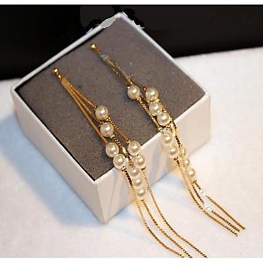 Női Francia kapcsos fülbevalók - Gyöngy, Arannyal bevont Klasszikus, Divat Arany Kompatibilitás Esküvő Hivatal és karrier