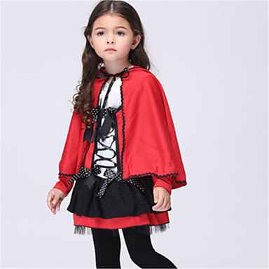 Little Red Riding Hood Cosplay Costume Halloween Festival / Holiday Halloween Costumes Red Fashion