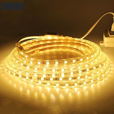 billige LED Strip Lamper-18m 1080smd leds 5050 smd 10mm varm hvit / hvit / rød vanntett / skjærbar 220 v