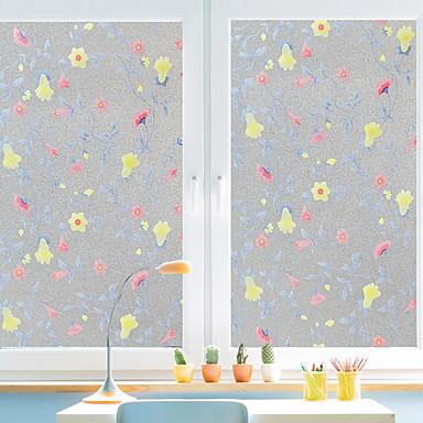 Trees/Leaves Window Sticker, PVC/Vinyl Material Window Decoration Living Room Bath Room Shop /Cafe Kitchen