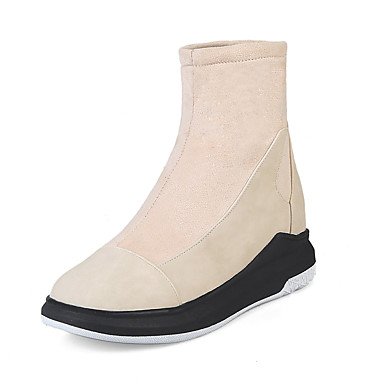 Women's Shoes Fall Spandex Nubuck leather Leatherette Fall Shoes Winter Fashion Boots Bootie Boots Wedge Heel Platform Round Toe Booties/Ankle Boots c636bb