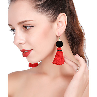 Women's Drop Earrings Hoop Earrings - Tower Colorful Yellow / Red / Light Blue For Party New Year