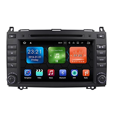 8 inch 2 DIN Android 7.1 High Definition / Bluetooth / Built-in Bluetooth for Mercedes-Benz Support / GPS / RDS / WiFi / Touch Screen