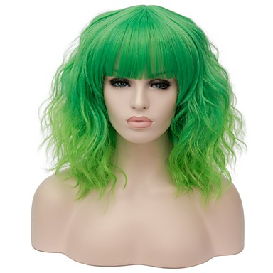 Synthetic Wig Water Wave Red Gold Pink Bright Purple Black   Dark Green  Synthetic Hair Women s Red   Blue   Blonde Wig Short Capless   Brown 05a54904ed0a