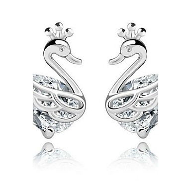 Női Hattyú Strassz Beszúrós fülbevalók - Divat Ezüst Fülbevaló Kompatibilitás Hétköznapi