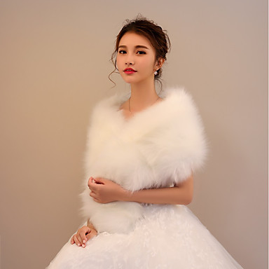 Faux Fur Wedding / Party / Evening Women's Wrap With Capelets