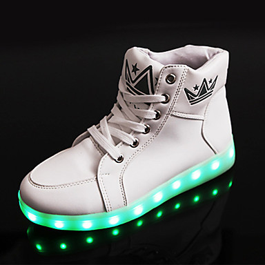 Lenkkitossut-Tasapohja-Unisex-PU-Musta Valkoinen-Rento Urheilu-Light Up Kengät Comfort Crib Shoes Nilkkahihna