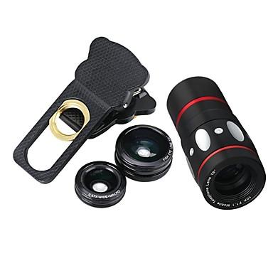 Mobile Phone Lens Fish-Eye Lens / Wide-Angle Lens / Macro Lens Glass 10X Macro Xiaomi / HUAWEI / Samsung