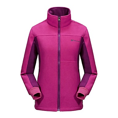 Women's Hiking Fleece Jacket Outdoor Winter Anti-Slip, Anatomic Design, Breathability Winter Fleece Jacket Full Length Visible Zipper Camping / Hiking / Hunting / Climbing / UV Resistant