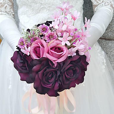 Wedding Flowers Bouquets Wedding Polyester 7.87