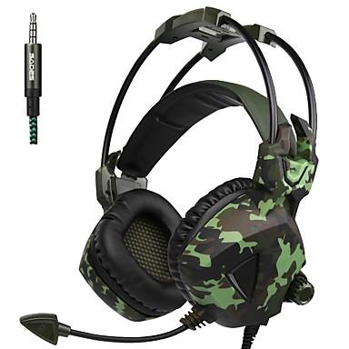 A931 A fülön túl / Fejpánt Vezetékes Fejhallgatók Dinamikus Műanyag Játszás Fülhallgató A hangerőszabályzóval / Mikrofonnal Fejhallgató