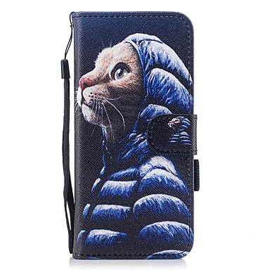Case For Samsung Galaxy S8 Plus / S8 Wallet / Card Holder / with Stand Full Body Cases Cat Hard PU Leather for S8 Plus / S8