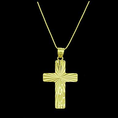 Herrn Anhänger Kreuz vergoldet Metal Schmuck Für Alltag