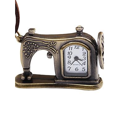 baratos Relógios Homem-Homens Mulheres Relógio de Bolso Mecânico - de dar corda manualmente Couro Marrom Criativo Venda imperdível Analógico Vintage - Bronze
