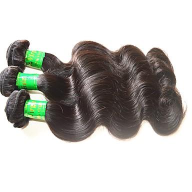 Indiai haj Hullámos haj Kémiai anyagoktól mentes / nyers Az emberi haj sző Emberi haj sző Human Hair Extensions