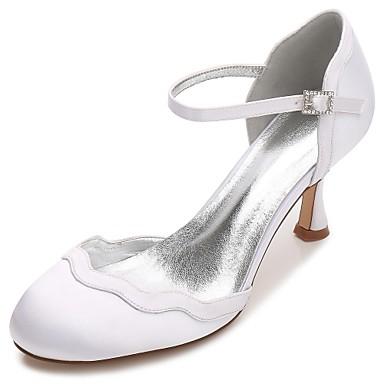 Women's Shoes Satin Spring / Summer Comfort / D'Orsay & Two-Piece / Basic Pump Wedding Shoes Kitten Heel / Cone Heel / Low Heel Round Toe